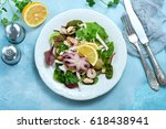 salad with seafood | Shutterstock . vector #618438941