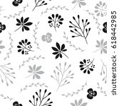 seamless vector floral pattern | Shutterstock .eps vector #618442985