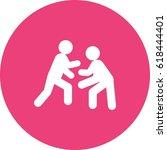 wrestling | Shutterstock .eps vector #618444401