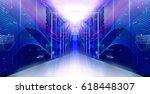 futuristic modern symmetric... | Shutterstock . vector #618448307