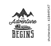 vintage adventure hand drawn... | Shutterstock .eps vector #618449147