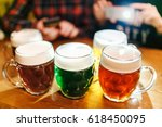 five authentic crafted mugs of...   Shutterstock . vector #618450095