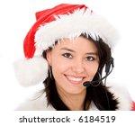 Female Santa Portrait With A...