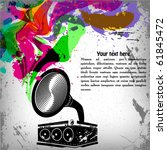 music concept grunge background ... | Shutterstock .eps vector #61845472