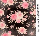 seamless checkered background... | Shutterstock .eps vector #618457571