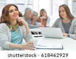 team of businessmen working... | Shutterstock . vector #618462929