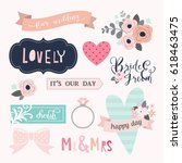love stickers. signs  symbols ... | Shutterstock .eps vector #618463475