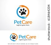 Stock vector pet care logo template design vector emblem design concept creative symbol icon 618464204