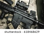 close up of a m4a1 weapons and... | Shutterstock . vector #618468629