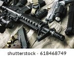 weapons and military equipment... | Shutterstock . vector #618468749