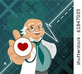 doctor with health symbol   Shutterstock .eps vector #61847035