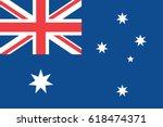australia flag. page symbol for ... | Shutterstock .eps vector #618474371