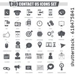 contact us support black icon... | Shutterstock . vector #618475841