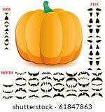 halloween pumpkin with big set... | Shutterstock .eps vector #61847863