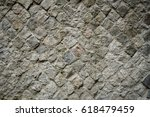 Small photo of Example of ancient Roman Opus Reticulatum wall.