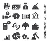 finance icons  black edition    Shutterstock .eps vector #618480839