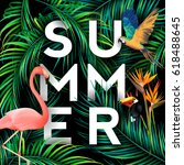 summer typographical background ... | Shutterstock .eps vector #618488645