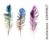 3 hand drawn watercolor...   Shutterstock . vector #618490817