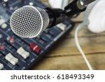 recording microphones. | Shutterstock . vector #618493349