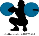 vector silhouette of an woman... | Shutterstock .eps vector #618496544