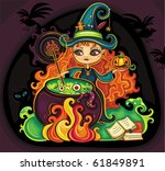 vector illustration of young... | Shutterstock .eps vector #61849891