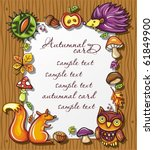 Autumnal Wooden Frame With...