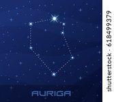 constellation auriga ...   Shutterstock .eps vector #618499379