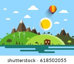 flat design vector landscape... | Shutterstock .eps vector #618502055