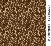 seamless pattern of coffe in... | Shutterstock .eps vector #618502277