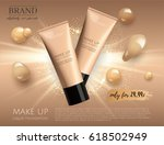 modern vip cosmetic ads  make... | Shutterstock .eps vector #618502949