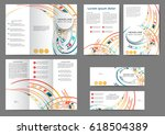 set of color abstract brochure...   Shutterstock .eps vector #618504389