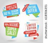 special offer origami design... | Shutterstock .eps vector #618506351