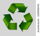 recycle sign  | Shutterstock . vector #618506441