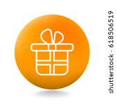 gift icon flat | Shutterstock .eps vector #618506519