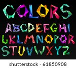 crystal color alphabet. see... | Shutterstock .eps vector #61850908