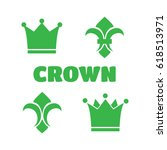 crown icons. gold icons    Shutterstock . vector #618513971