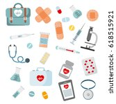welcome medical service card...   Shutterstock .eps vector #618515921