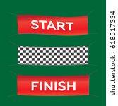 banner set start finish... | Shutterstock . vector #618517334