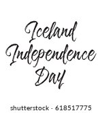 iceland independence day  text... | Shutterstock .eps vector #618517775