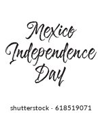 mexico independence day  text... | Shutterstock .eps vector #618519071