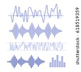 music sound wave icon set  | Shutterstock . vector #618519359