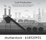 coal mining industry and... | Shutterstock .eps vector #618520931