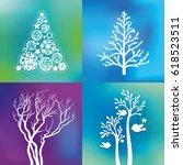 vector trees. | Shutterstock .eps vector #618523511