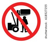 forklift vector sign | Shutterstock .eps vector #618527255