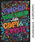 hand drawn poster with funny... | Shutterstock .eps vector #618529091
