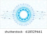 vector future technology design. | Shutterstock .eps vector #618529661