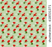 pattern with chamomile and... | Shutterstock . vector #618531371