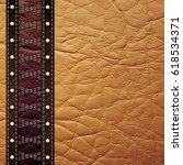 leather texture background   Shutterstock . vector #618534371