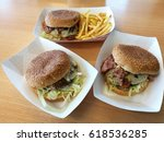 A Yummy Big Lunch With 3 Beef...
