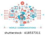 modern flat thin line design... | Shutterstock . vector #618537311